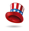 hat in american flag color uncle sams hat vector image