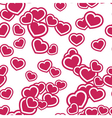 Hearts seamless pattern pink vector image