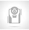 Heating appliances flat line icon vector image vector image