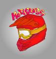 helmet motocross vector image vector image