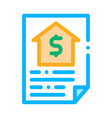 house document icon outline vector image
