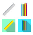 isolated object office and supply icon set of vector image