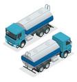 isometric tanker truck petroleum tanker vector image vector image