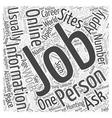 job hunting online dlvy nicheblowercom Word Cloud vector image vector image