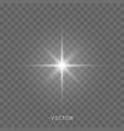 light shine star flash sparkles sunlight lens vector image vector image