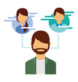 man portrait character people social media vector image vector image