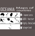 maps collection oceanian countries vector image vector image