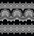 Mehndi Indian Henna white tattoo seamless pattern vector image vector image
