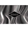 Modern abstract background with silver shiny waves vector image vector image