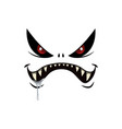 monster face isolated icon cartoon emotion vector image vector image