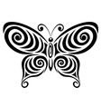 Ornamental butterfly 1 vector image