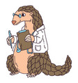 pangolin the doctor vector image