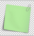 paper mockup yellow note attached vector image vector image