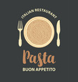 pasta menu or banner for an italian restaurant vector image