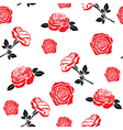 Pattern of red flowers roses vector | Price: 1 Credit (USD $1)