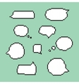 Pixel art speech bubbles isolated vector image vector image