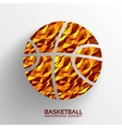 Polygonal basketball background concept tam vector image vector image