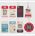 price tags label design set vector image vector image