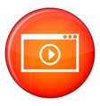 Program for video playback icon flat style vector image vector image