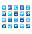 real estate business icons vector image