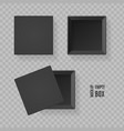 realistic detailed 3d blank black present box set vector image