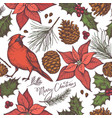 seamless pattern with colored cardinal cones vector image vector image