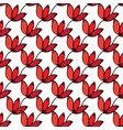 seamless red floral pattern background vector image