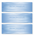 set blue abstract triangle geometrical background vector image