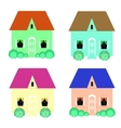 set cool detailed houses vector image