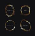 set modern stylish geodes with golden gradient vector image