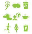 set of icons in save environment concept vector image vector image