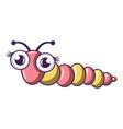 small caterpillar icon cartoon style vector image