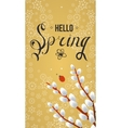 Spring typographic poster and logo