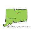 State of Connecticut vector image