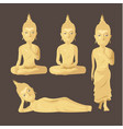 statue buddha figure collection set vector image