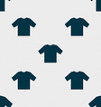 t-shirt icon sign Seamless pattern with geometric vector image vector image