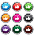 thumb up sign set 9 collection vector image vector image