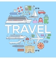Tourism circle concept design Holiday vacation vector image