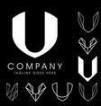 u letter based logos vol 1 vector image