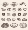 Vintage breakfast collection for your restaurant vector image vector image