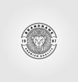 vintage lion logo design lion animal emblem design vector image