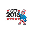 Vote 2016 Uncle Sam Hand Pointing Up Retro vector image vector image