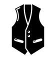waistcoat icon simple black style vector image