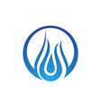 water droplet element icons business logo vector image