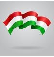 waving hungarian flag vector image