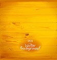 wood plank yellow background vector image vector image