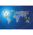 World map social network concept vector image