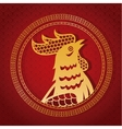 year rooster chinese calendar gold rooster and vector image
