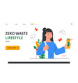 zero waste lifestyle concept vector image