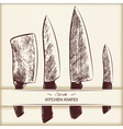 Set with kitchen knifes vector image